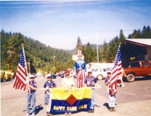 Cub Scout Pack #52 and Jay Clark as Uncle Sam