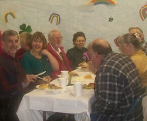 A few of the diners on St. Patricks Day 2002