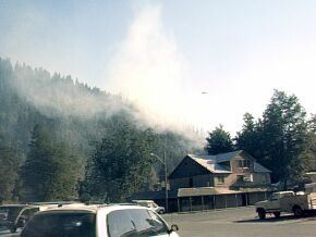 Frontier Lodge, and the fire