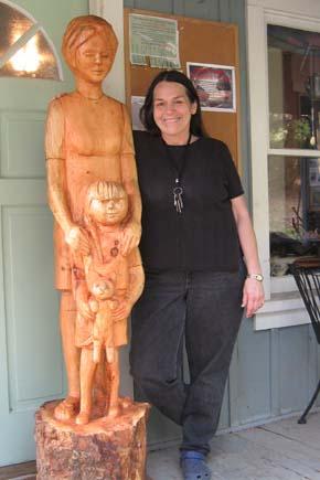 Barbara Hayes, woodcarver