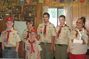 Webelos become Scouts