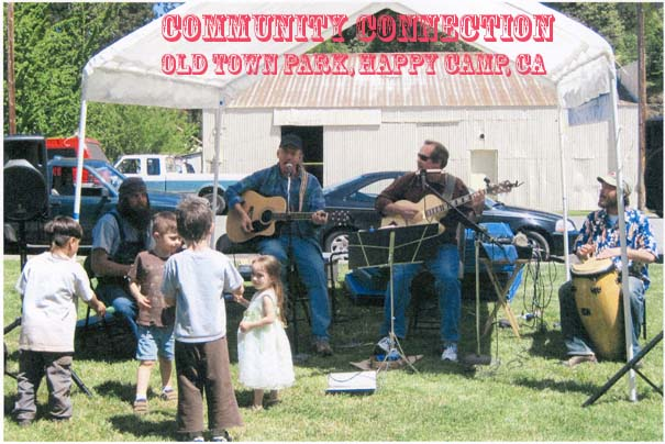 Music at the Community Connection Fair was enjoyed by young to old, by guest from Weed playing Banjo, Gerry Canning, Scott Nelson, and Tai Kim.