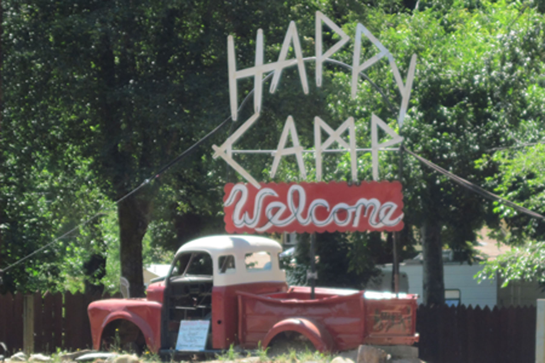 New Sign WELCOMES Oregon Visitors  Happy Camp News