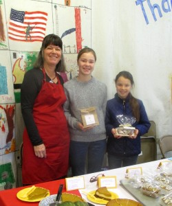 Kathy Bishop had yummy pumpkin pie at the Seiad Valley Fire Hall Crafters Event with granddaughters.  Hannah had carmels made from their very own dairy cows milk. Mercy had yummy candies too!!