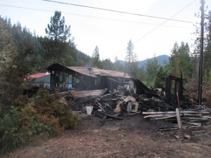 King Family home at Bear Cove Cabin 9  burned